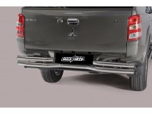 DOUBLE REAR BUMPER S.STEEL MITSUBISHI L200 2015