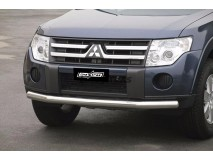 Front Protection Mitsubishi Pajero 2007+ Stainless Steel 76ММ