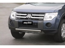 Front Protection Mitsubishi Pajero 2007+ Stainless Steel Oval