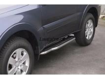 Side Steps Mitsubishi Pajero 2007+ 3D Stainless Steel W/ Platform