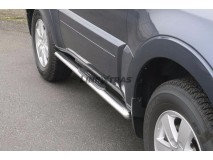 Side Steps Mitsubishi Pajero 2007+ 3D Stainless Steel GPO