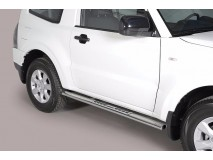 Side Steps Mitsubishi Pajero 2007+ 3D Stainless Steel DSP
