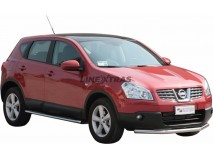 Front Protection Nissan Qashqai 07-10 Stainless Steel 63ММ