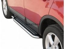 Estriberas Nissan Qashqai 07-10 Inox C/ Plataforma