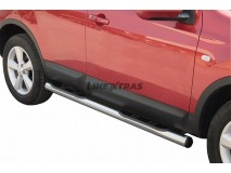 Estriberas Nissan Qashqai 07-10 Inox Tubo 76MM