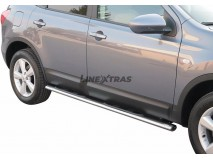 Side Steps Nissan Qashqai +2 2008+ Stainless Steel GPO