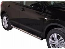 Estriberas Nissan Qashqai 10-13 Inox Tubo 76MM
