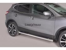 Estriberas Nissan Qashqai 2014+ Inox Tubo 76MM