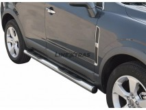 Side Steps Opel Antara 07-11 Stainless Steel Tube 76MM