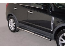 Side Steps Opel Antara 2011+ Stainless Steel Tube 76MM