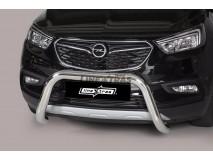 Big Bar U Opel Mokka X 2016+ Stainless Steel 76MM W/ EC