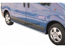 Side Protections Opel Vivaro 08-13 Stainless Steel Oval
