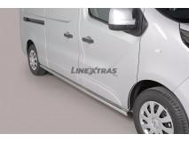 Side Protections Opel Vivaro LWB 2014+ Stainless Steel Tube 63MM