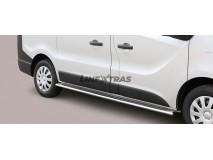 Side Protections Opel Vivaro SWB 2014+ Stainless Steel Oval