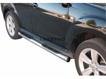 Side Steps Peugeot 4007 2008+ Stainless Steel Tube 76MM