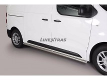 Side Protections Peugeot Expert MWB 2016+ Stainless Steel Tube 63MM