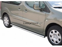 Side Protections Peugeot Partner 08-15 Stainless Steel Oval