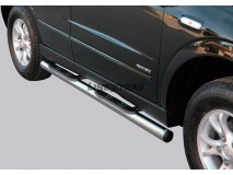 Side Steps Ssangyong Actyon 2006+ Stainless Steel Tube 76MM