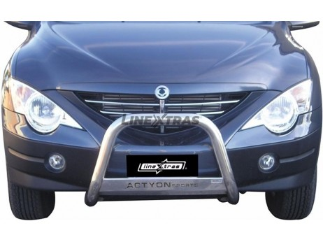 Big Bar U Ssangyong Actyon Sports 07-12 Stainless Steel W/ EC