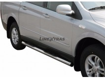 Side Steps Ssangyong Actyon Sports 07-12 Stainless Steel Tube 76MM