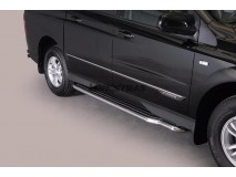 Side Steps Ssangyong Actyon Sports 2012+ Stainless Steel W/ Platform