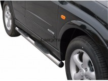 Side Steps Ssangyong Kyron 2007+ Stainless Steel Tube 76MM
