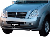 Front Protection Ssangyong Rexton II 2006+ Stainless Steel Oval