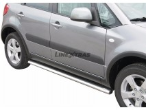 Side Protections Suzuki SX4 2009+ Stainless Steel Oval