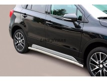 Side Protections Suzuki SX4 S-Cross 2013+ Stainless Steel Tube 63MM