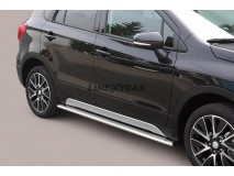 Side Protections Suzuki SX4 S-Cross 2013+ Stainless Steel Oval