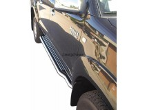 Estribos Toyota Hilux 06-16 CD Inox C/ Plataforma