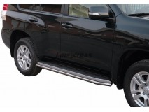 Side Protections Toyota Land Cruiser 150 2009+ 5D Stainless Steel Tube 40MM