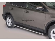 SIDE STEPS OVAL STAINLESS STEEL 4D. RAV 4 2013
