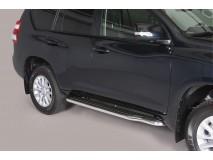 Side Steps Toyota Land Cruiser 2018+ 5D Stainless Steel W/ Platform