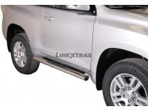 Side Steps Toyota Land Cruiser 2018+ 3D Stainless Steel Tube 76MM