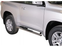Side Steps Toyota Land Cruiser 2018+ 3D Stainless Steel GPO