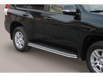 Side Protections Toyota Land Cruiser 2018+ 5D Stainless Steel Tube 40MM