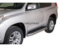 Side Protections Toyota Land Cruiser 2018+ 3D Stainless Steel Tube 40MM