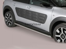 Side Protections Citroen C4 Cactus 2015+ Stainless Steel Tube 63MM