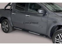 Side Steps Mercedes-Benz X Class 2017+ Stainless Steel Black DSP