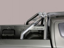 Double Roll-Bar Fiat Fullback DC Stainless Steel W/ Brand Logo