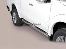 ESTRIBOS TUBO INOX 76mm FIAT FULLBACK 2P