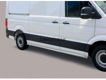Side Protections VW Crafter 2017+ MWB Stainless Steel Tube 63MM