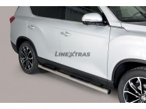 Side Steps Ssangyong Rexton 2018+ Stainless Steel Tube 76MM
