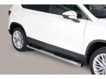 Estribos Seat Ateca 2018+ Inox Tubo 76MM