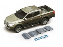 Full Underbody Kit Protection 6mm W/O Fuel Tank Protection Aluminium Mitusibishi L200 2015+ Rival