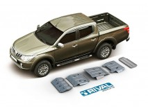 Full Underbody Kit Protection 6mm W/ Fuel Tank Protection Aluminium Mitusibishi L200 2015+ Rival
