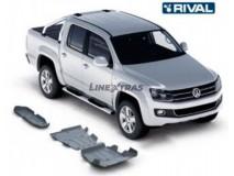 Full Underbody Kit Protection 6mm W/ Fuel Tank Protection Aluminium VW Amarok 2.0 TDI 10-17 Rival