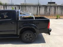 Roll-Bar Toyota Hilux 05-15 Inox C/ Proteção Vidro