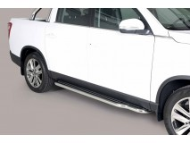 Side Steps Ssangyong Musso 2018+ DC Stainless Steel W/ Platform